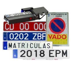 PLACA MATRICULA Y DERIVADOS 880010AAKI -