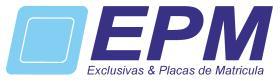 EXCLUSIVAS DE PLACAS MATRICULA  PLACA MATRICULA Y DERIVADOS